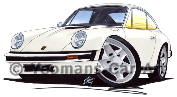 Porsche 911 - Caricature Car Art Print