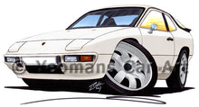 Load image into Gallery viewer, Porsche 924 - Caricature Car Art Print