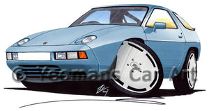 Porsche 928 S2 - Caricature Car Art Coffee Mug