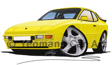 Load image into Gallery viewer, Porsche 944 - Caricature Car Art Print