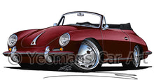 Load image into Gallery viewer, Porsche 356 Cabriolet - Caricature Car Art Print