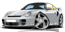 Load image into Gallery viewer, Porsche 911 (996) GT2 - Caricature Car Art Print