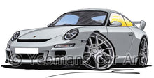 Load image into Gallery viewer, Porsche 911 (997) GT3 - Caricature Car Art Coffee Mug