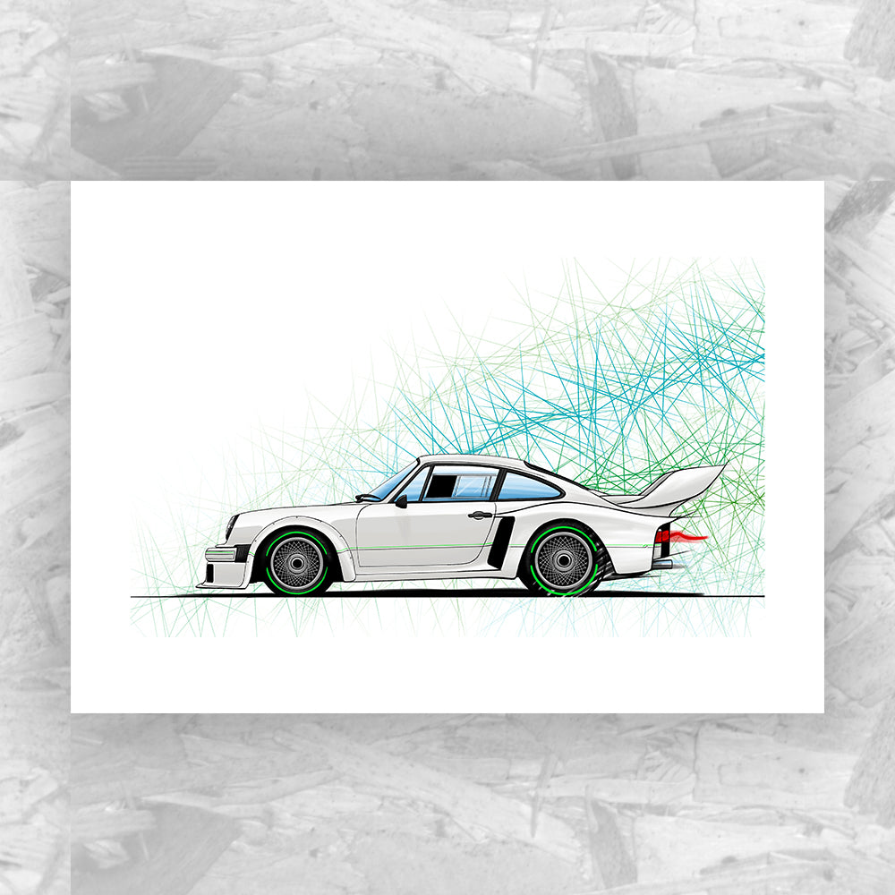Porsche 934-5 (Yeomans Edition) - Roadside Icons Art Print