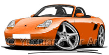 Load image into Gallery viewer, Porsche Boxster (986) - Caricature Car Art Print