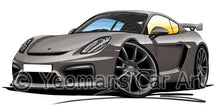 Load image into Gallery viewer, Porsche Cayman GT4 - Caricature Car Art Coffee Mug