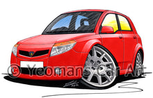 Load image into Gallery viewer, Proton Savvy - Caricature Car Art Print