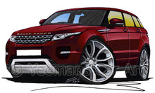 Load image into Gallery viewer, Range Rover Evoque - Caricature Car Art Print