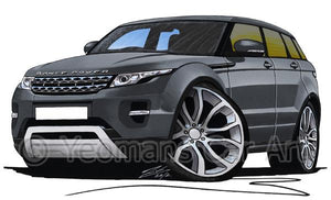 Range Rover Evoque - Caricature Car Art Coffee Mug