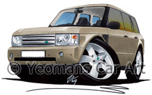 Load image into Gallery viewer, Range Rover (L322)(Mk3) - Caricature Car Art Print