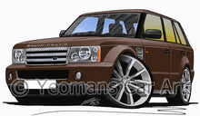 Load image into Gallery viewer, Range Rover (L320) Sport - Caricature Car Art Print