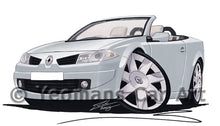 Load image into Gallery viewer, Renault Megane Coupe-Cabriolet - Caricature Car Art Print