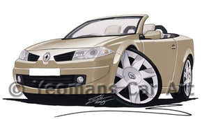 Renault Megane Coupe-Cabriolet - Caricature Car Art Coffee Mug