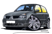 Load image into Gallery viewer, RenaultSport Clio 182 - Caricature Car Art Print