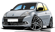 Load image into Gallery viewer, RenaultSport Clio III 200 - Caricature Car Art Print