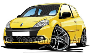 RenaultSport Clio III 200 - Caricature Car Art Coffee Mug
