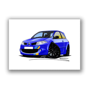 RenaultSport Megane 225 F1 Team - Caricature Car Art Print