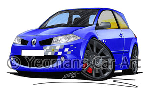 RenaultSport Megane 230 R26 F1 Team - Caricature Car Art Print