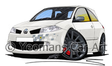 Load image into Gallery viewer, RenaultSport Megane 230 R26 F1 Team - Caricature Car Art Print