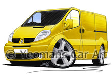 Load image into Gallery viewer, Renault Trafic Van - Caricature Car Art Print