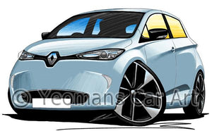 Renault Zoe - Caricature Car Art Coffee Mug