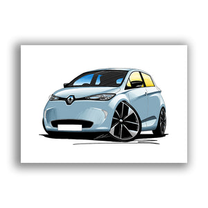 Renault Zoe - Caricature Car Art Print
