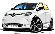 Load image into Gallery viewer, Renault Zoe - Caricature Car Art Print