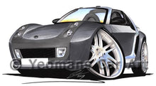Load image into Gallery viewer, Smart Roadster Brabus (Silver Tridion) - Caricature Car Art Coffee Mug