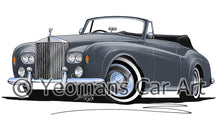 Load image into Gallery viewer, Rolls-Royce Silver Cloud III Mulliner Drophead - Caricature Car Art Print