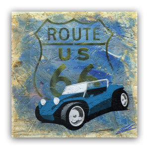 'Route 66 Buggy' - Original Painting on OSB