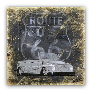 'Route 66 Thing' - Original Painting on OSB