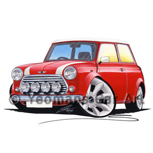 Rover Mini Cooper Sport - Caricature Car Art Print