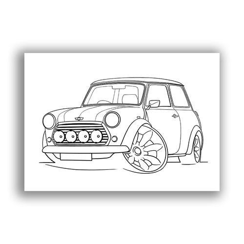 Rover Mini Cooper Sport - Free Colouring Sheet