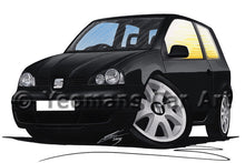 Load image into Gallery viewer, Seat Arosa (Mk2) - Caricature Car Art Print