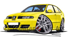 Load image into Gallery viewer, Seat Leon (Mk1) Cupra R - Caricature Car Art Print