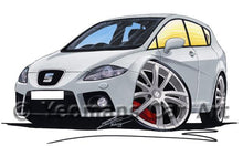 Load image into Gallery viewer, Seat Leon (Mk2) Cupra - Caricature Car Art Coffee Mug