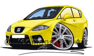 Seat Leon (Mk2) Cupra - Caricature Car Art Coffee Mug