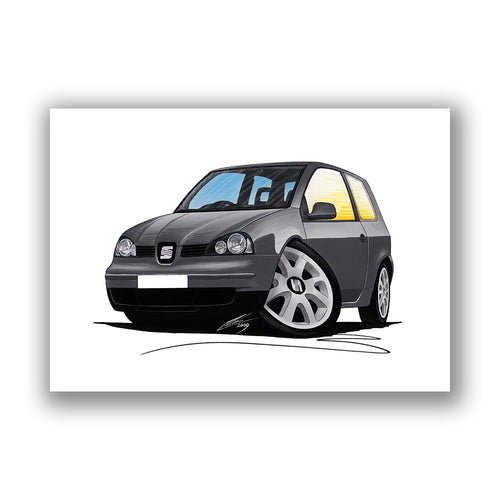 Seat Arosa (Mk2) - Caricature Car Art Print