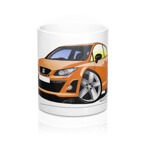 Seat Ibiza (Mk5) Cupra - Caricature Car Art Coffee Mug