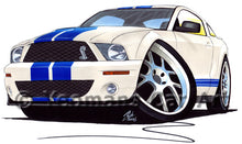 Load image into Gallery viewer, Ford / Shelby Mustang (2006) GT500 - Caricature Car Art Print