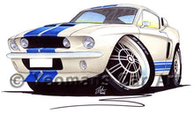 Load image into Gallery viewer, Ford / Shelby Mustang (1967) GT500 - Caricature Car Art Print