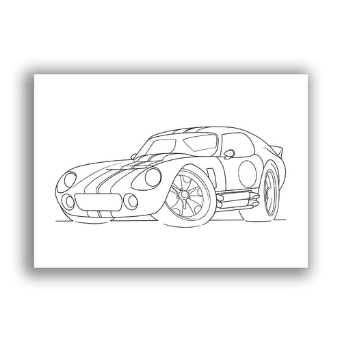 Shelby Daytona - Free Colouring Sheet