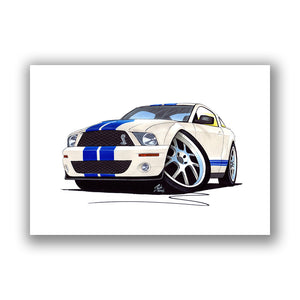 Ford / Shelby Mustang (2006) GT500 - Caricature Car Art Print
