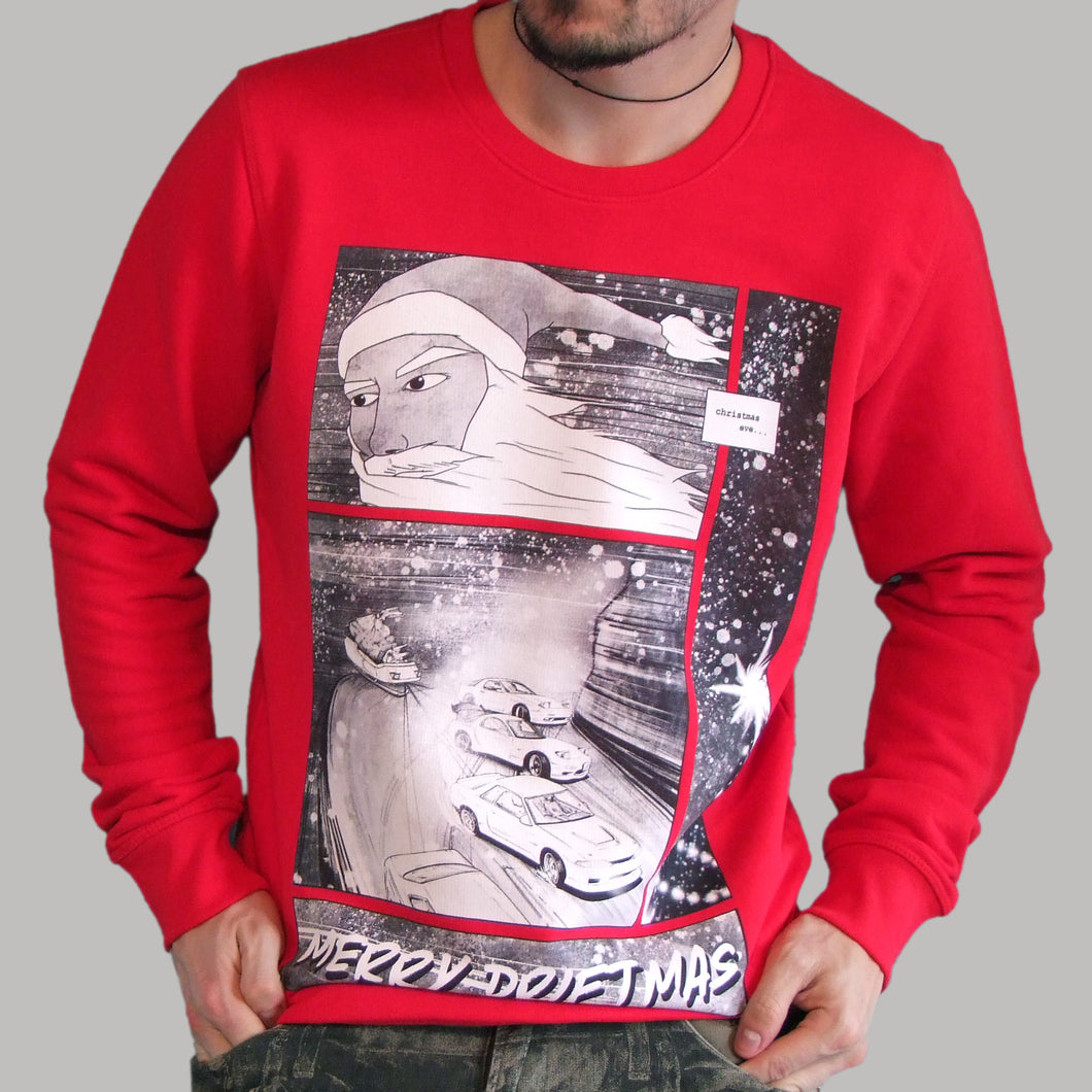 Sideways Santa - Christmas Car Art Sweatshirt