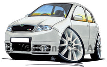 Load image into Gallery viewer, Skoda Fabia 1 vRS - Caricature Car Art Print