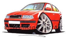 Load image into Gallery viewer, Skoda Octavia 1 vRS - Caricature Car Art Print