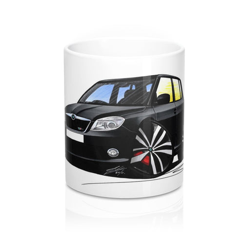 Skoda Fabia 2 vRS - Caricature Car Art Coffee Mug