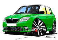 Load image into Gallery viewer, Skoda Fabia 2 vRS - Caricature Car Art Print