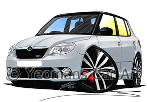 Skoda Fabia 2 vRS - Caricature Car Art Print