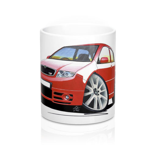 Skoda Fabia 1 vRS - Caricature Car Art Coffee Mug
